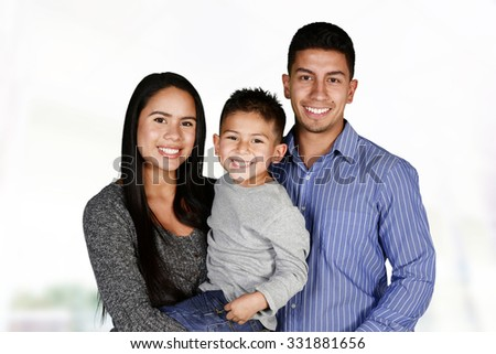 Young hispanic family who love being with each other #331881656