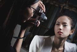 Young japan women fashion shooting.