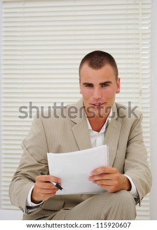 Young job seeker prepares for an interview