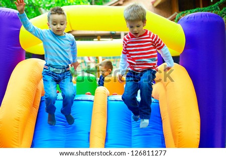 young kids having fun on playground