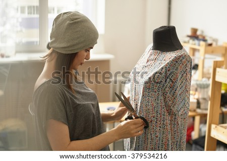 young lady dressmaker