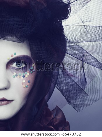 young lady in original hat with ...