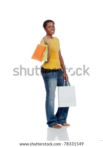 Young Lady with Shopping Bags