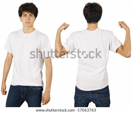 blank white shirt. with lank white t-shirt,