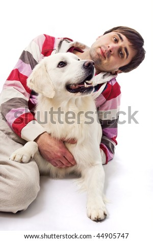 Young man and his dog