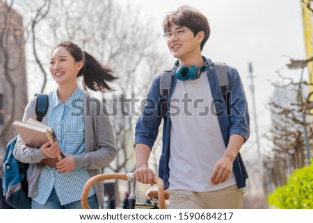 young man and young woman