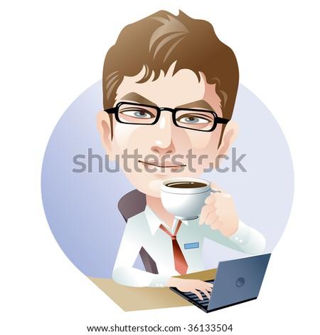 Young man at work