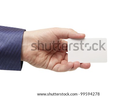 Young man holding a credit card - stock photo