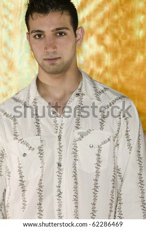 Young man in button down shirt