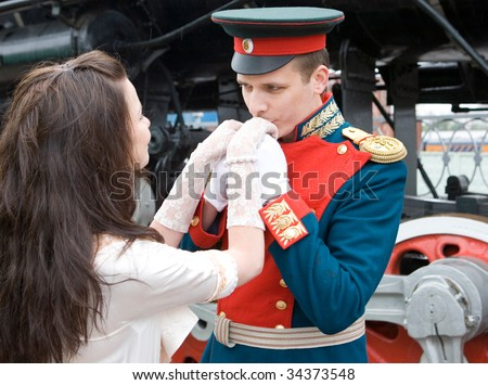 Young man kissing hands of his choosen one