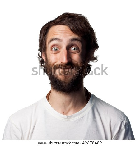Young man making a funny face