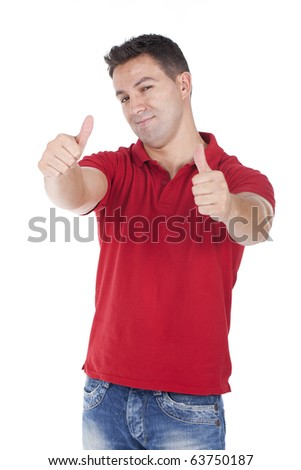young man making ok sign with his fingers
