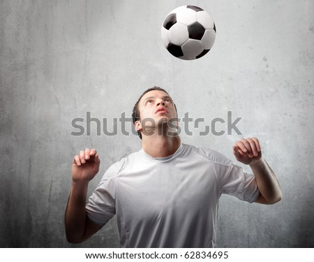 Young man playing football