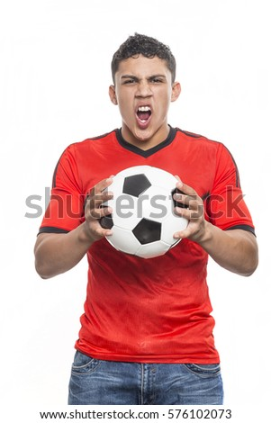 Young Man Shouting and feasting. Full of joy and excitement - Shutterstock ID 576102073