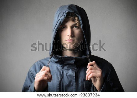 Young man wearing a windcheater