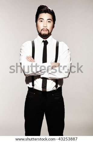 Male Semi Formal Attire http://www.spiderpic.com/stock-photos/shutterstock/43253887-young-man-wearing-semi-formal-attire-and-crossing-his-arms-he-is-looking-at-the-camera-and-is-3-4-length-viewable-vertically-framed-shot