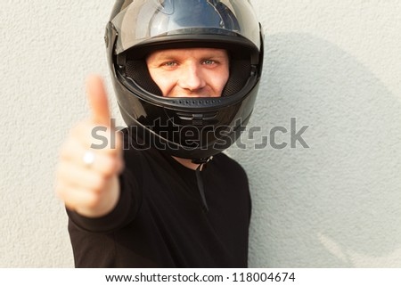 young man with motor bike
