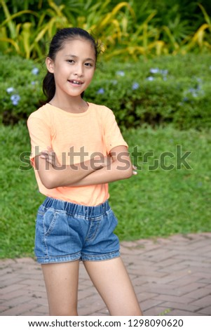 Young Minority Juvenile And Confidence