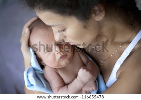 young mother with a baby