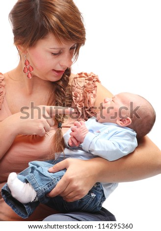 Young mother with her baby.