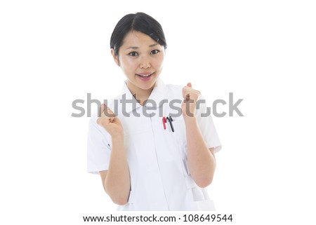 Young nurse of the smile