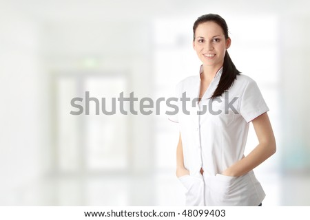 Young nurse or female doctor