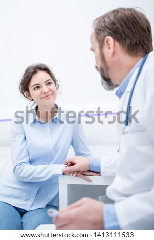 Young patient having a consultation in doctors office