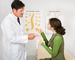 Young patient visiting a chiropractor for the first time.