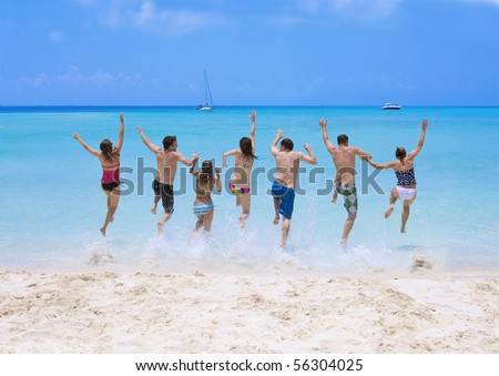 Young People can wait to Get out there and Have Fun - stock photo