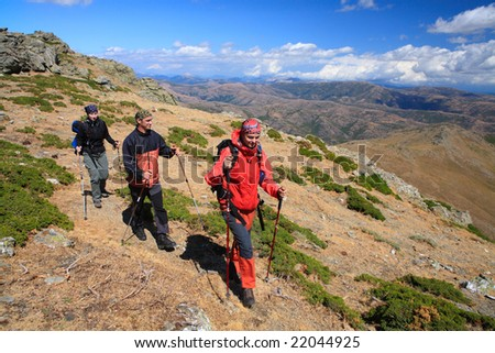 young peoples sport mountain walk
