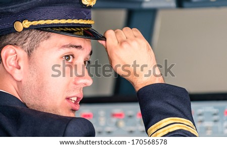 Young Pilot ready for Takeoff