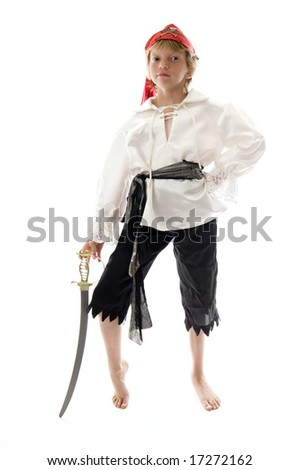 Young Pirate Ready to Pillage and Plunder!