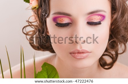 Thin Lizzy Mineral Makeup. girl with makeup portrait