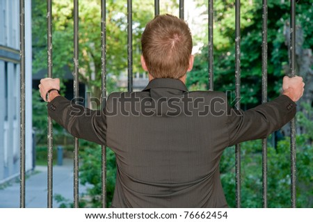 Young prisoner business man