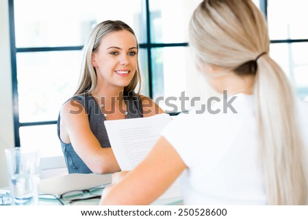 Young professional at job interview