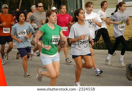 young runners participating in annual holiday running event