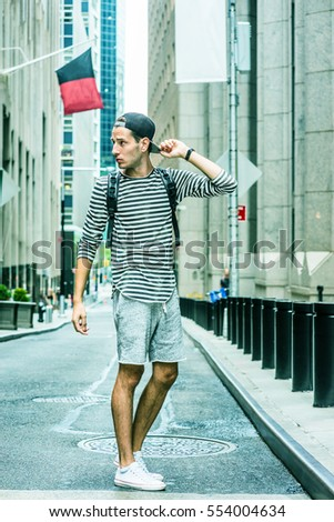 fe44b8d35cc Young Russian Man traveling in New York
