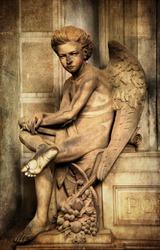 young sad angel