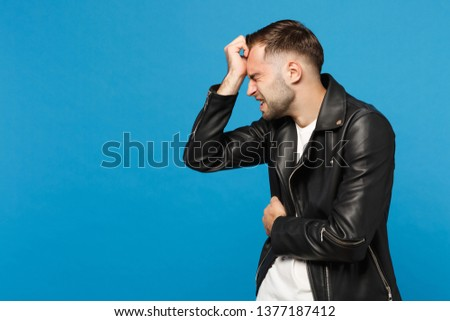 Portrait Of Sad Young Boy Black Background Images And