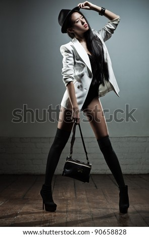 Young sexy japanese woman fashion.