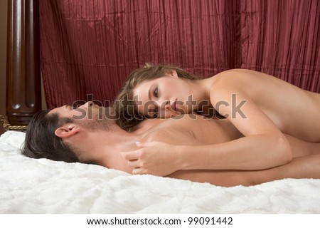 Shutterstock Young sexy naked heterosexual couple making love in bed
