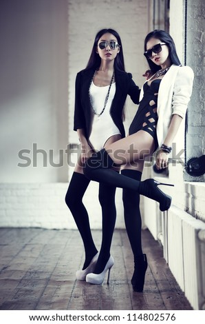 Young slim japanese women fashion.