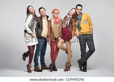 Young smiling friends - stock photo