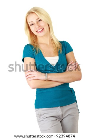 Young smiling happy woman