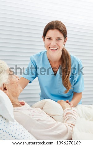 Young smiling woman as a nurse or nurse in nursing