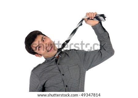 Young stressed bankrupt stressed Asian,  Nepalese businessman, white background,  studio shot.