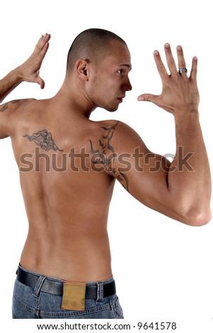 tattoo back man