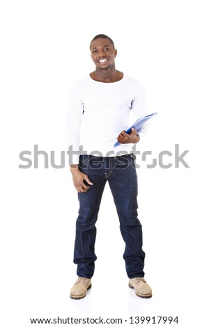 Young student man,isolated on a white background #139917994