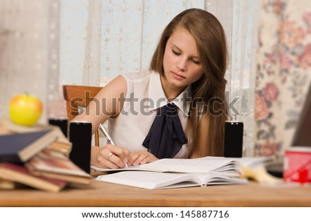 Young student preparing for an exam