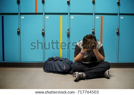 Young student torturing of school bullying Stock foto ©